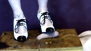 Stomping Man Sausage In My Gangsta Stilettos Cbtrample (from Bittas Vault) Manmeat Stomp Cougar Feet Fetish