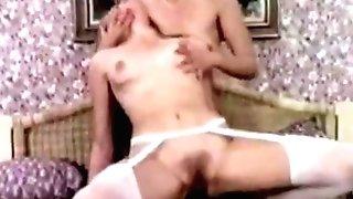 Retro Youthfull Big Black Cock Fucks Two Matures Cougars