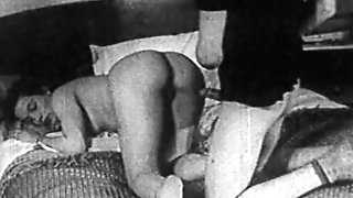 Authentic ANTIQUE PORNOGRAPHY 1950s - Shaven Cunny, Spycam Fuck