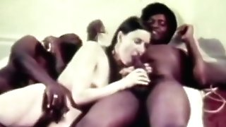 Youthfull Milky Teenage Gal With Two Older Black Dudes (antique)