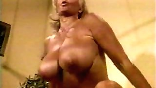 Muscled Chesty Granny Lifts Weights all Naked (Antique)