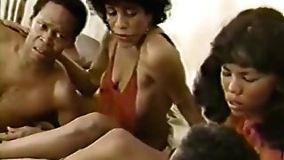 Tina Davis, Silver Satine, Alexander James in old school pornography