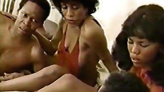 Tina Davis, Silver Satine, Alexander James in old school pornography