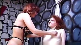 Rough Domme Has Her Joy With A Skinny Pallid Fuck Toy Nymph