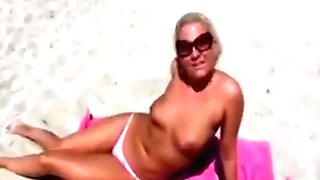 Blonde Mummy Loves To Be Fucked In The Dunes