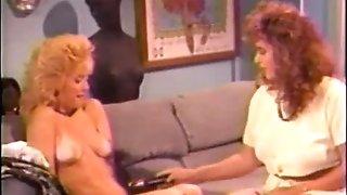 Nina Hartley and Keisha - Another old hot lady-doll scene.