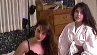 Retro firsttime lezzies pussyeating and pegging