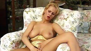 Big-chested Cougar Disrobing And Masturbating - Julia Reaves